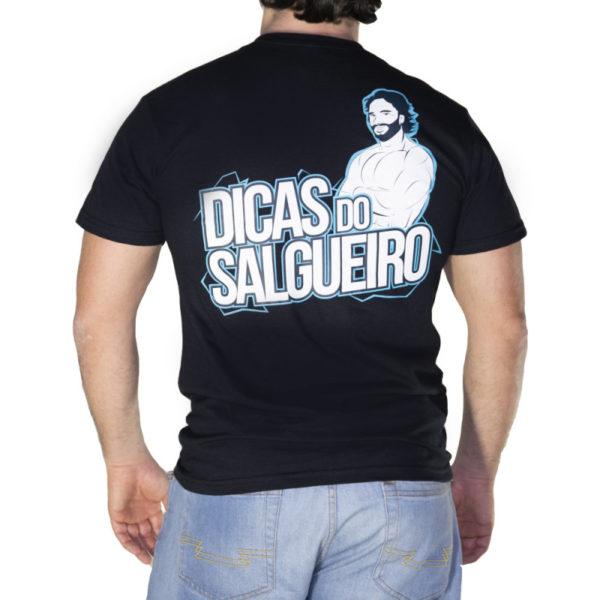 T shirt Dicas logo preto