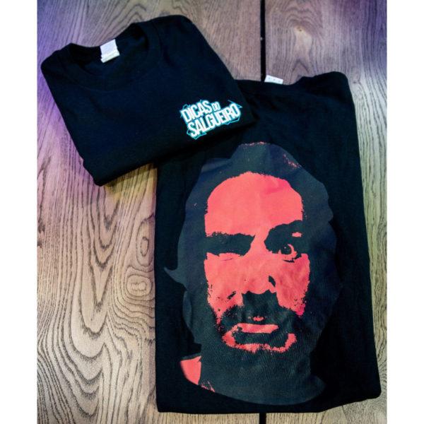 T shirt Dicas preta cara